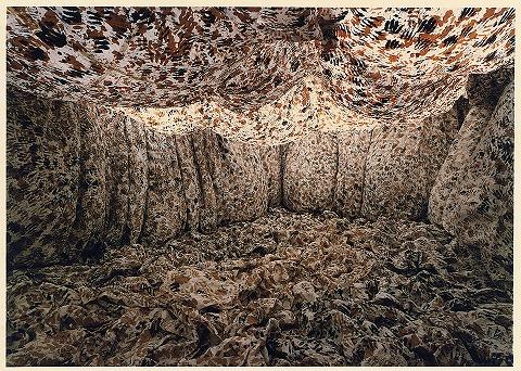 個展 和紙・墨・柿渋(真木画廊/1991)