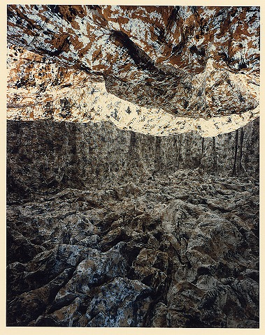 個展 和紙・墨・柿渋(真木画廊/1988)