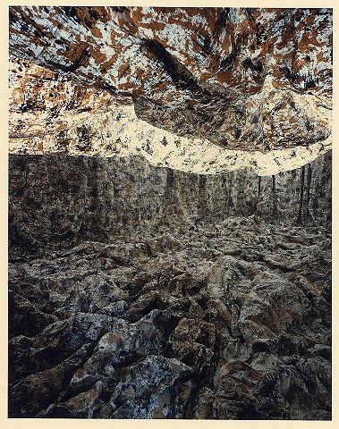 個展 和紙・墨・荒縄(真木画廊/1992)