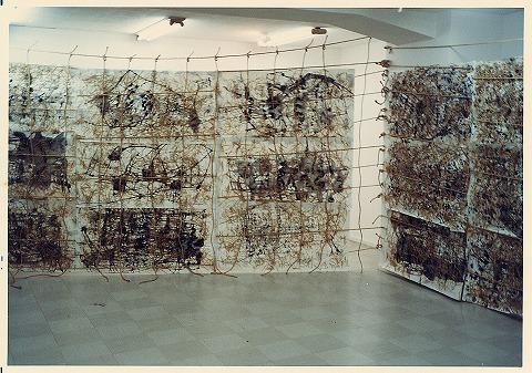 個展 和紙・墨・荒縄(1988)