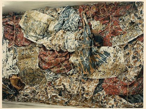 個展 和紙・墨・顔料・オイルパステル・荒縄(真木・田村画廊/1994)